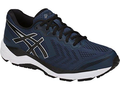 ASICS Mens Gel-Foundation 13 Running Shoe, Dark Blue/Black/White, Size 14