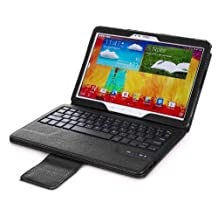 myBitti Wireless Bluetooth Keyboard Cover for Galaxy Note 10.1 Inch 2014 Edition (SM-P6000) Tablet & TabPRO 10.1 (SM-T520N) Tablet,BLACk