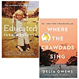 Books : Educated Tara Westover, Where the Crawdads Sing [Hardcover] 2 Books Collection Set