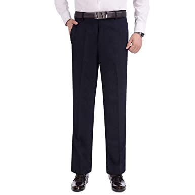 ZEVONDA Pantalones de Traje de Hombres - Moda Disfraz Formal ...