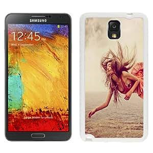Fashionable Custom Designed Samsung Galaxy Note 3 N900A N900V N900P N900T Phone Case With Red Dress Girl Levitation_White Phone Case
