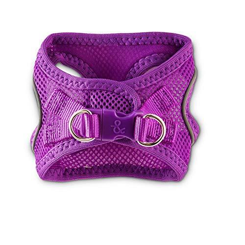 Bond & Co. Reflective Purple Mesh Dog Harness, XX-Small/X-Small
