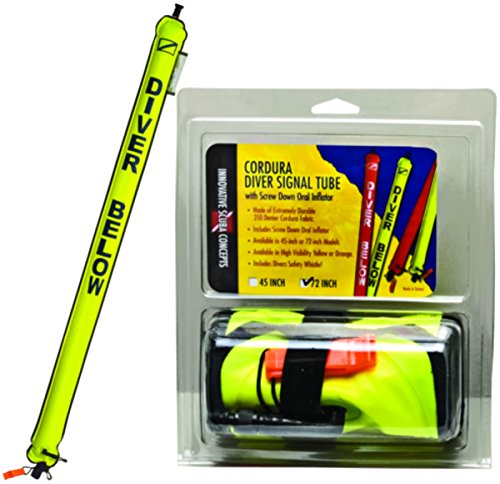 Innovative Scuba Standard 6ft Cordura Signal Tube (Neon Yellow) ()