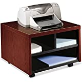 HON Company Products - Printer/Fax Stand, Mobile, 20amp;quot;x19-7/8amp;quot;x14-1/8amp;quot;, Mahogany - Sold as 1 EA - Mobile printer/fax cart holds laser printers, inkjet printers or fax machines. Ideal for limited space. Low-profile cart stores conven