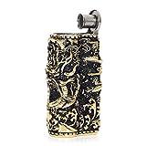 Classics IMCO Antique Style Armor Dragon Stainless Steel Oil Petrol Cigaretter Lighter (Gold Black)