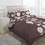 Linens Limited Helena Duvet Cover Set, Chocolate, Double