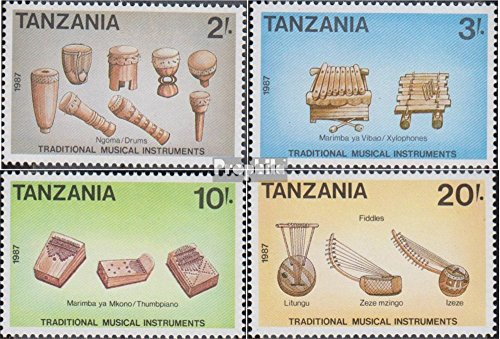 Tanzania 565-568 (complete.issue.) 1989 Musical Instruments (Stamps for collectors) music / (Tanzania Instruments)