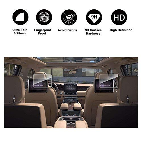 [2PCS] 2018 Lincoln Navigator Sync 3 10In Display Rear Seat TV Glass Screen Protector, HD Clear Tempered Glass Ultra HD Extreme Clarity by R RUIYA