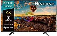 "Hisense ULED 50"" U6G 4K UHD Smart Android TV con HDR y Dolby Atmos (50U6G,"