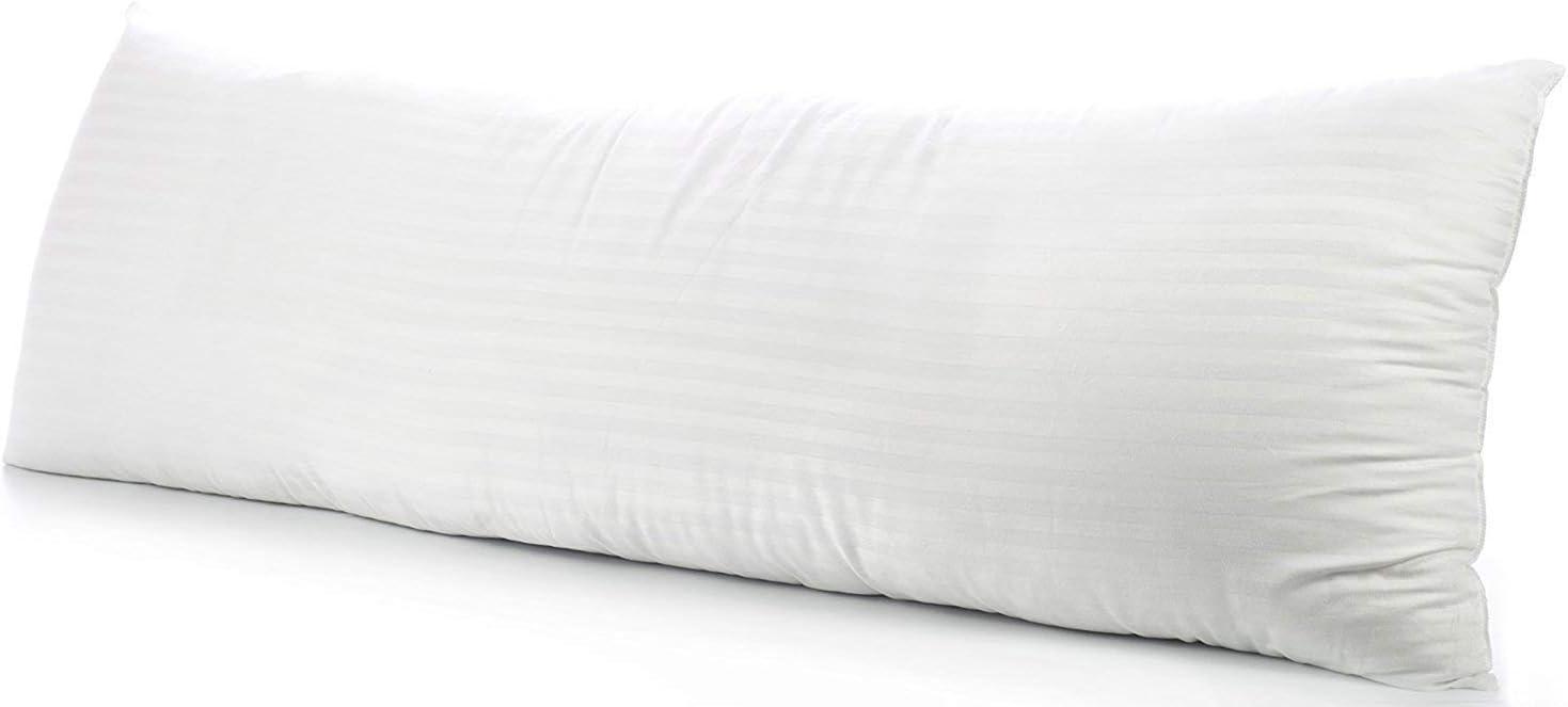 beddingstar Body Pillowcase Pillow Cover 20 x 54 Black Zipper Closer Set of 1 Body Pillow Case Luxury 600 Thread Count Hotel Quality 100/% Pure Natural Cotton Body Pillowcases 20 x 54