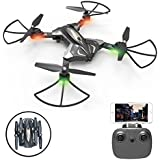 SZJJX RC Drones, Foldable Remote Control Wifi Quadcopter FPV VR Helicopter 2.4GHz 6-Axis Gyro 4CH with 0.3MP HD Camera RTF SJ-L600