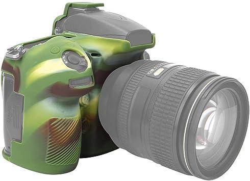 Pomya Estuche Protector de la cámara, Cubierta Protectora de la cámara Digital de Silicona Suave, Accesorios de Carcasa para cámara Nikon D810(Camouflage): Amazon.es: Electrónica