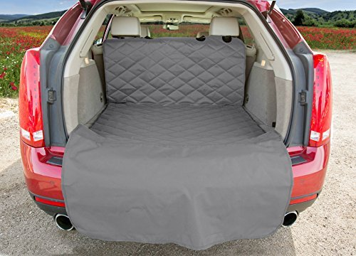 SUV Cargo Liner for Dogs - USA Based Company (Large, Grey)