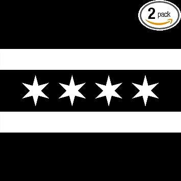 City OF Chicago Flag Vinyl Sticker Decal Sign SIZES Bumper Laptop Car Window