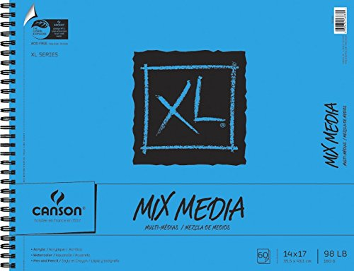 Canson XL Mix-Media Paper, 98 lb, 14 x 17 Inches, 60 Sheets - 100510930 ()
