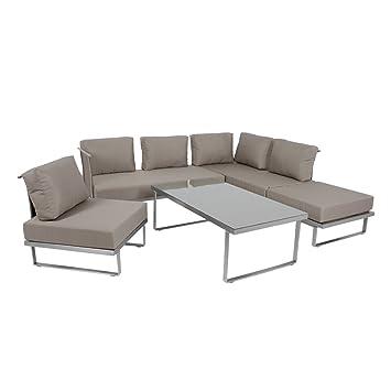 Amazon.de: OUTLIV. Outdoor Lounge Sofa Corsica 4tlg. Multifunktional ...