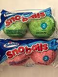 Hostess Sno Balls 6 full size packs 2 cakes per package