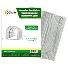 Ogrow Greenhouse Replacement Cover, White