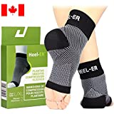 Plantar Fasciitis Socks - Heel-ER High Quality Compression Foot Sleeves with Arch & Ankle Support - Brace for Heel Pain Relief, Spur, Sore Feet - better than Night Splint for Men & Women