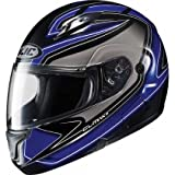 HJC Zader Men's CL-MAX II Bluetooth Full Face Motorcycle Helmet - MC-2 / Large