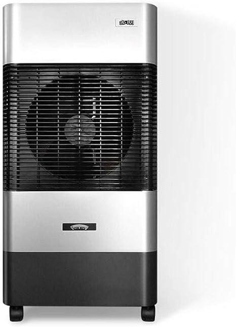 LNDDP Acondicionadores Aire Ventilador enfriamiento Agua fría Individual Ventilador humidificación Ventilador Piso doméstico Ventilador evaporativo 90W (Color: Plateado): Amazon.es: Deportes y aire libre
