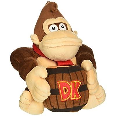 Little Buddy Super Mario Bros. Donkey Kong Holding Barrel Stuffed Plush, 8