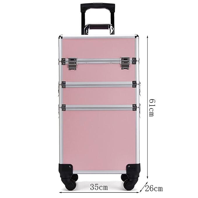 YD Estuches cosméticos Carrito Profesional Estuche cosmético Rueda Universal Gran Capacidad Multi-Capa Rosa 35 × 26 × 61cm /&: Amazon.es: Hogar