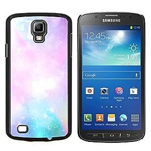 Cubierta protectora del caso de Shell Plástico || Samsung Galaxy S4 Active i9295 || Galaxy gas nube nebulosa Arte Azul Rosa Cielo Estrellas @XPTECH