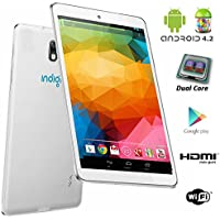 Indigi 7 Android 4.2 Luxury Leather White Tablet PC w/ HDMI WiFi Dual Camera