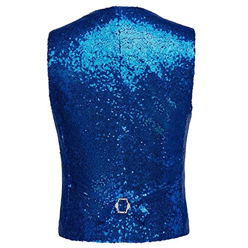 Allthemen uomo da glitter Blue Vest Abito Wedding con wf6HcIRq