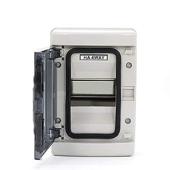 4 vías IP65 eléctrico ABS plástico caja de distribución a prueba ...