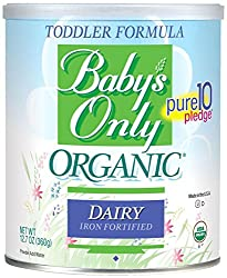 Baby's Only Toddler Formula, Dairy, 12.7 Ounce (Pack of 6)