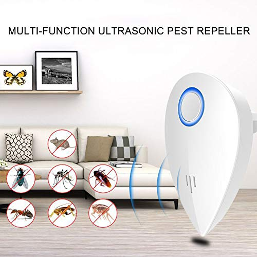 (yuye-xthriv Ultrasonic Pest Mice Reject Electronic Anti Mosquitoes Insect Killer Stopper Blue US Plug )