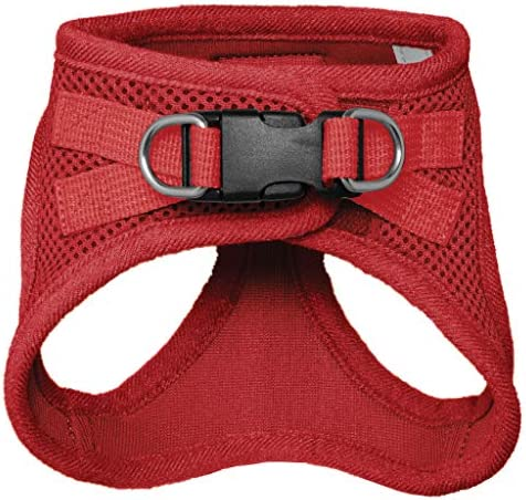 Voyager Step-in Air Dog Harness - All Weather Mesh, Step in Vest Harness for Small and Medium Dogs by Best Pet Supplies, Red (Matching Trim), XS (Chest: 13-14.5