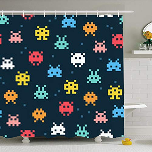 GisRuRu Shower Curtains Bathroom 72 x 72 Inches Colorful for sale  Delivered anywhere in Canada