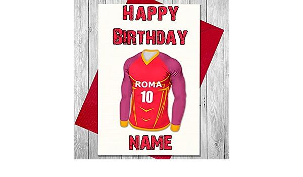 Personalizado Roma fútbol tarjeta de cumpleaños – cualquier ...
