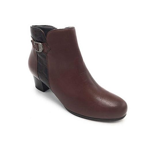 Pitillos 5268 botín tacón Medio Combinado marrón: Amazon.es: Zapatos y complementos