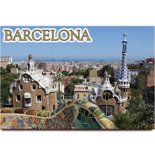 (Park Guell fridge magnet Barcelona Spain travel souvenir)