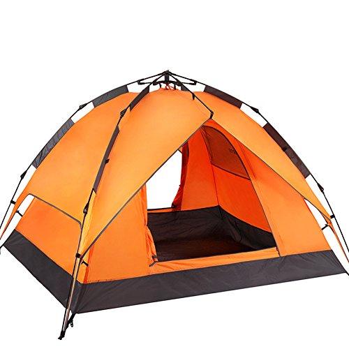 邪魔冷蔵する因子完全な自動キャンプ テント,3 ~ 4 名 屋外テント 防雨の肥厚 キャンプテント 通風孔の大きな ポータブル 二重層 グラス 家族のテント