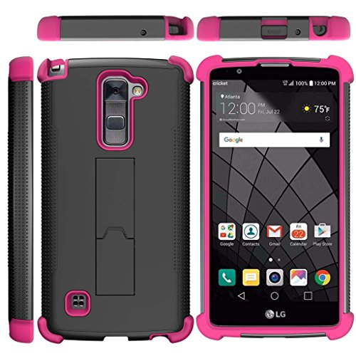 TurtleArmor | LG Stylus 2 Plus Case | LG Stylo 2 Plus Case [Grip Combat] Rugged Impact Dual Resistant Armor Kickstand Defender Case Pink Designs - Cute Penguin free shipping