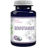 Benfotiamine 250mg 120 veganska kapslar, analyscertifikat från AGROLAB Tyskland, hög styrka, glutenfri, GMO-fri