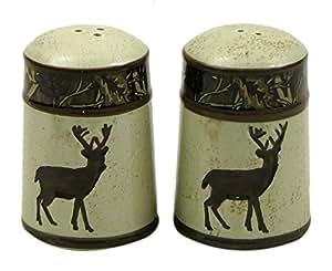 Iwgac Kitchen Tabletop Decorative Organizer Deer Salt and Pepper Set