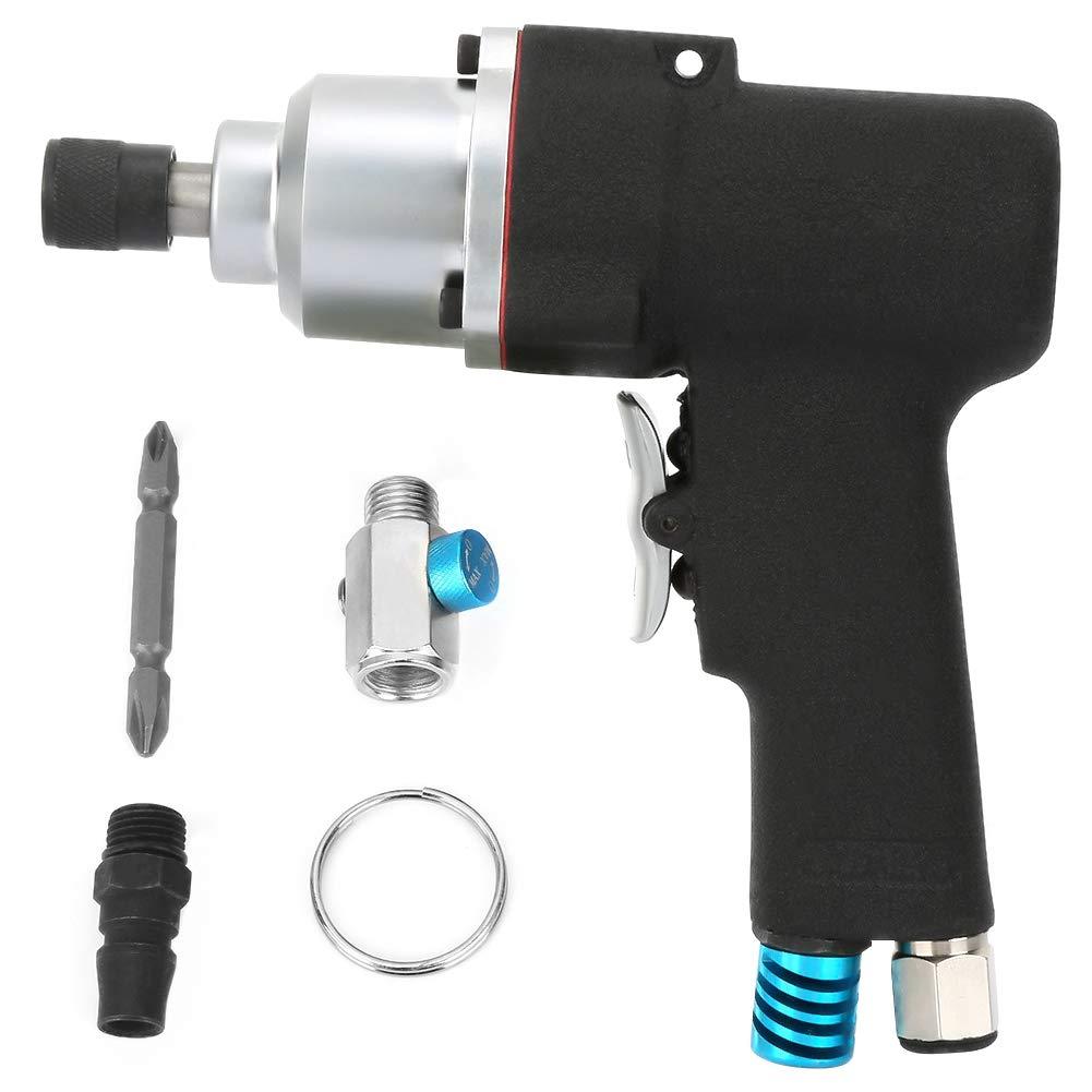 Composite Reversible Air Drill,AT-3098 8H 1/4''Air Screw Driver Gun Industrial Pneumatic Reversible Screwdriver