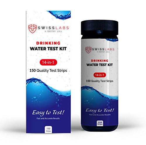 Swiss Labs 14 in 1 Drinking Water Test Kit, 150 Strips For Easy And Accurate Home Testing