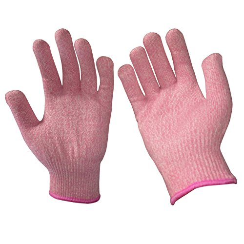 EVRIDWEAR Kid Sized Cut Resistant Work Gloves for Kitchen Use, Crafts, DIY, Garden and Yard works. Children Food Grade Kevlar Safety Gloves for Hand Protection from knives and Scissors (4-7 YRS), Pink - Diy Tools Garden
