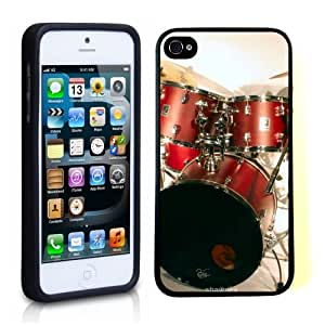 iPhone 5 5S Case ThinShell TPU Case Protective iPhone 5 5S Case Shawnex Drun Kit Drum Set Drummer by icecream design