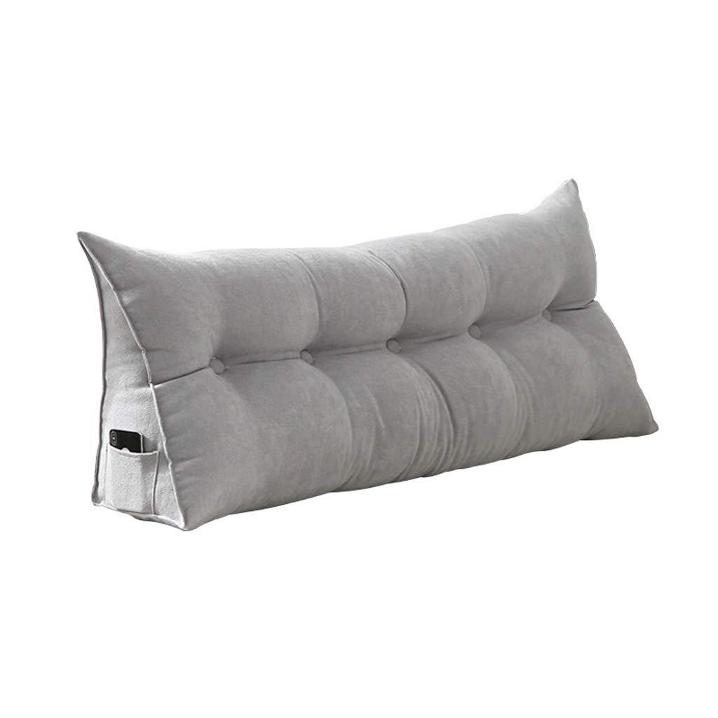 HQQ Nordic Minimalist Bedside Triangle Rückenlehne , Fenster Lange Kissen Sofa Bett Große Kissen Reißverschluss Abnehmbar und waschbar (Farbe   A, größe   120  20  50cm)