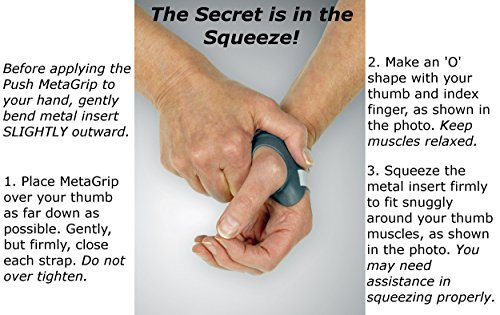 Push MetaGrip Left Size 1 CMC Thumb Brace for Relief of Osteoarthritis Pain by Push Braces (Image #6)