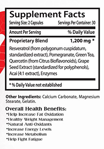 Resveratrol bulk supplements - RESVERATROL RED WINE EXTRACT 1200 MG - improve skin tone 2 Bottles Discount