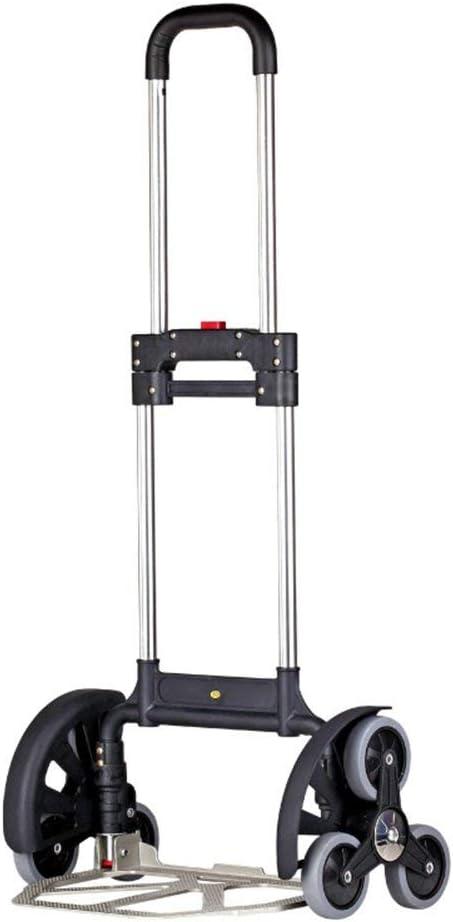 Mnjin Remolque de Escalera de 6 Ruedas Escalera de Aluminio de Alta Resistencia 80 kg Plegable Plegable Saco de Mano Carro Carro Carretilla Carro de Mano Almacén Industrial: Amazon.es: Deportes y aire